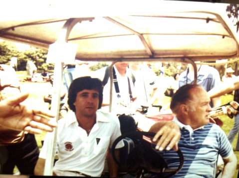Bobby Kelton golfing with Bob Hope